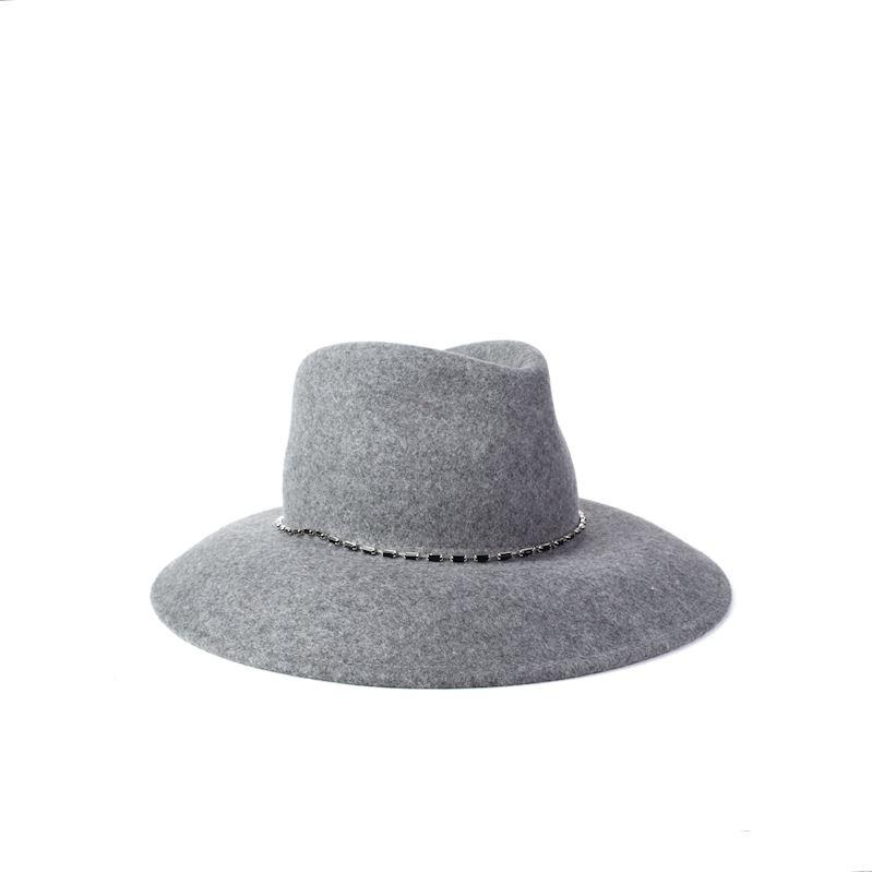 Šedý vlněný klobouk