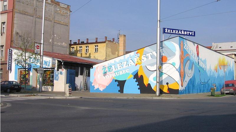 Vchod a vjezd z Koterovské ulice