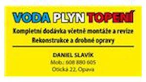Daniel Slavík - voda, plyn, topení