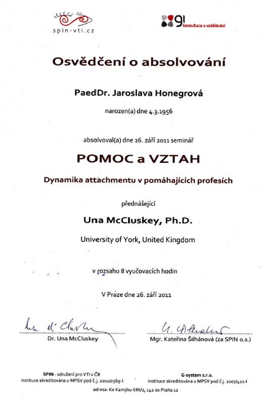 Honegrová Jaroslava PaedDr. - fotografie 3/5