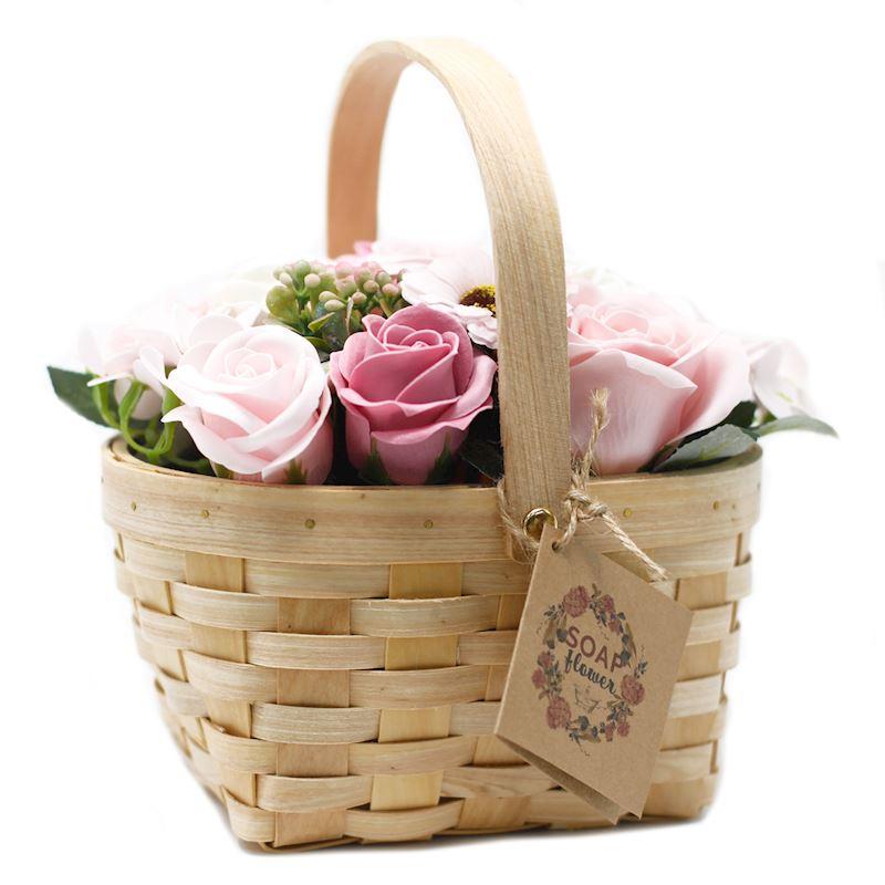 Mýdlové květy v košíčku