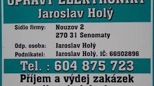 SERVIS ELEKTRONIKY - JAROSLAV HOLÝ