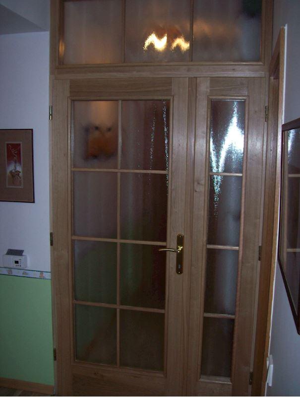 Vnitřní prosklené dubové dveře