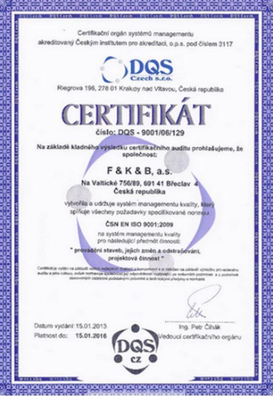 F&K&B, a.s. - stavební firma, projekční a obchodní společnost - fotografie 12/14