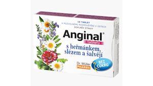 Anginal tablety s heřmánkem,slézem a šalvějí tbl.16