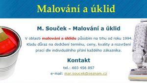 M. Souček - úklid a malování